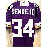 Andrew Sendejo Minnesota Vikings Signed Autograph Custom Purple Jersey JSA. b9c06a94c