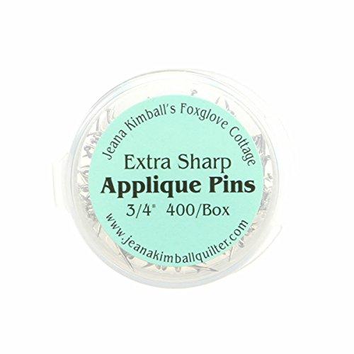 Jeanna Kimball's Foxglove Cottage 400 Extra-Sharp Applique Pins 3/4