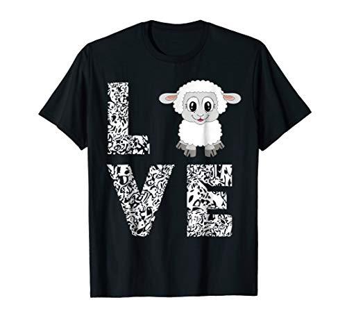 Sheep Lamb Love Livestock Farmer Cattle Sketch TShirts Gifts