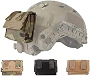 Military Airsoft Helmet Accessory Combat Tactical Helmet Cover Removable Rear Pouch