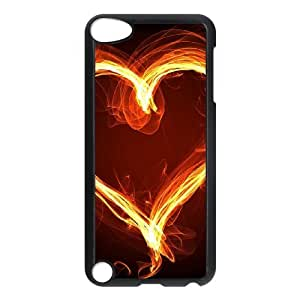 ZK-SXH - Fire Love Customized Hard Back Case for iPod Touch 5, Fire Love Custom Phone Case