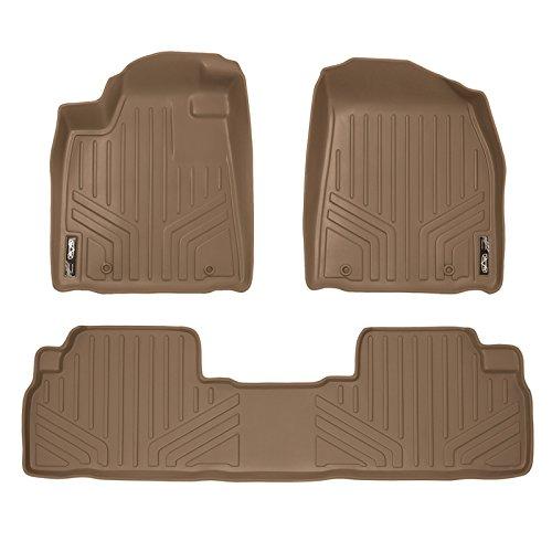 SMARTLINER Floor Mats 2 Row Liner Set Tan for 2010-2012 Lexus RX350 / RX450h
