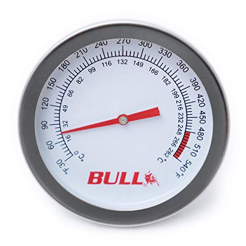 Bull Grills Replacement Temperature Gauge - 16509 (Bull Gas Grill Parts)