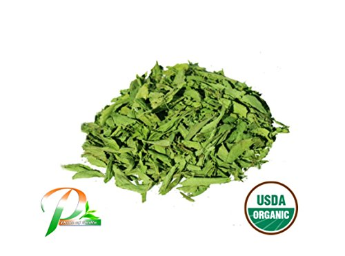 - Pride Of India - Organic Stevia Leaf Whole - 3.53 oz (100gm) Re-sealable Pouch - Certified Pure & Natural Sweetener - Best for Cooking, Baking, Beverages etc - Offers Best Value for Money