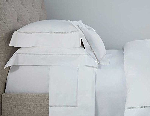 Tuscany Fine Linens (Tuscany Fine Linens AMO1QSSTIV Italian Amore Sheet Set, Ivory, Full/Queen)