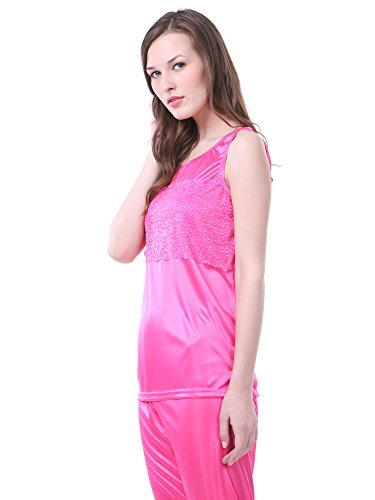 f3410a53f3 Claura Women s Satin Pack of 6pc Night Dress  1 NIGHTY+1 ROBE+1TOP+1 CAPRI+1  SPAGHETTI TOP+1 SHORT SKIRT  (Pink) - Buy Online in UAE.
