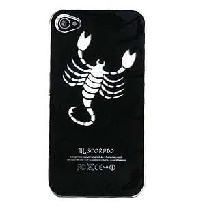ZCL New Sense Scorpio Design LED Flash Light Color Changing Hard Case for iPhone 5 , Black