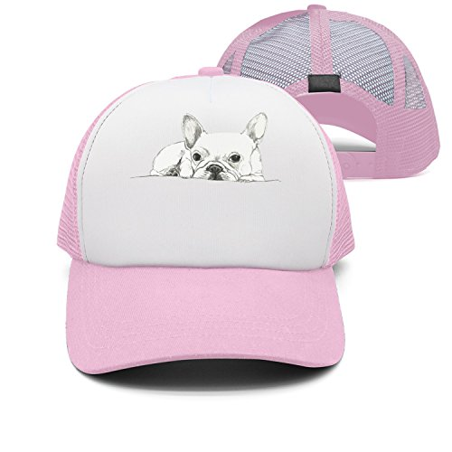 Kr.JAIEN Unisex Adult Baseball Mesh Cap French Bulldog Sketch Adjustable Snapback Mesh Hat Classic Mesh Hats for Men Women