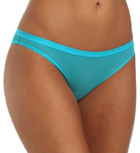 La Perla Women's Lingerie Underwear Evelina Mesh Brazilian Panty (16817) (Turquoise Kingfisher, Small / 2)