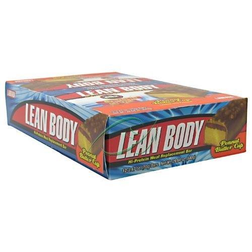 Nutrition Labrada Lean Body Energy substitut de repas, de chocolat et beurre d'arachide, 2,47 onces Bars (Pack de 12)