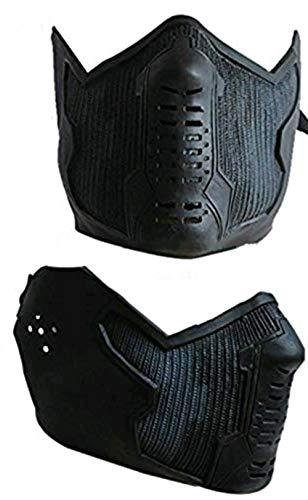 - Winter Soldier Bucky Barnes James Buchanan Cosplay Latex Mask Black