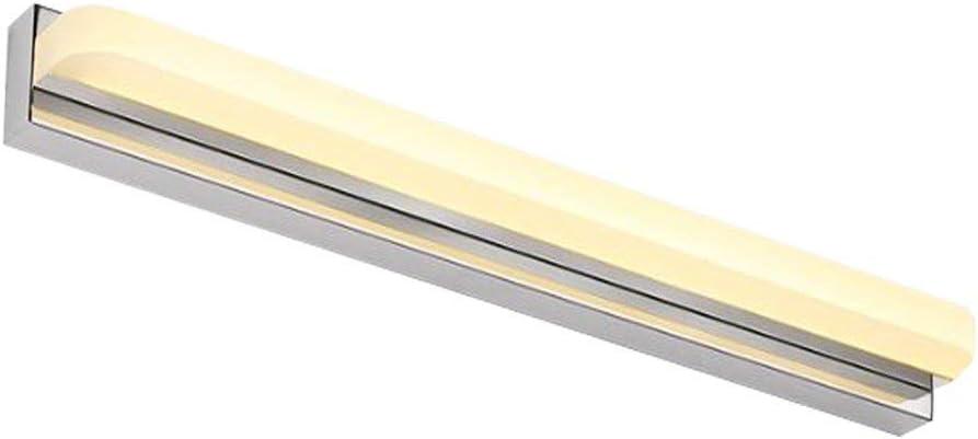 CJH Light Home Badezimmerspiegel Scheinwerfer Ledbathroom Mirror Wandleuchte Moderne Lampe Simple Mirror Mode Länge 42Cm Light,Lang 42cm, weiß Lang 72cm, Warmes Weiß
