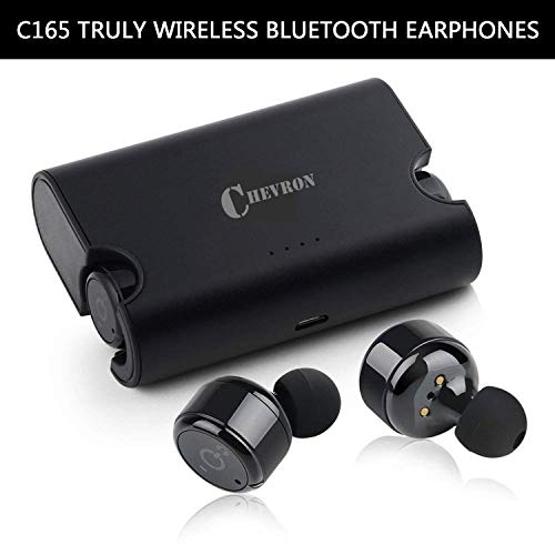 (Renewed) Chevron C165 Truly Wireless Bluetooth Earphones with Mic (Black)