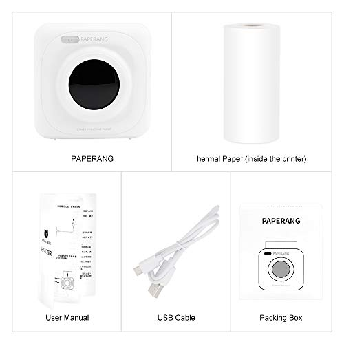 PAPERANG P1 White Mini Wireless Paper Photo Printer Portable Bluetooth Instant Mobile Printer for iPhone/iPad/Mac/Android Devices with Print Papers by Labelife (Image #6)