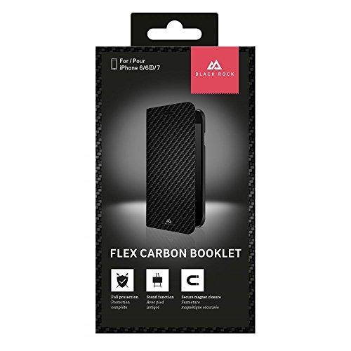Black Rock Flex Carbon Booklet Cover für Apple iPhone 7–Schwarz