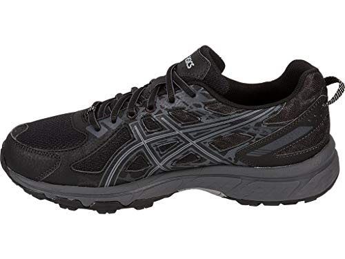 ASICS Mens Gel-Venture 6 Running Shoe, Black/Phantom/Mid Grey, 11 4E US