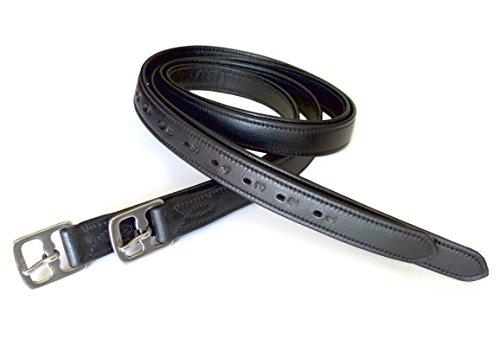 54″ X 1″ Super Soft English Stirrup Leathers Black