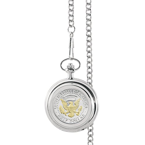 Selectively Gold-Layered Presidential Seal Half Dollar Pocket Watch