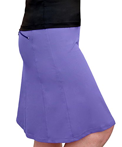 Price comparison product image Kosher Casual Women's Modest Knee-Length Workout Sport Skirt With Built-In Shorts Small Amethyst