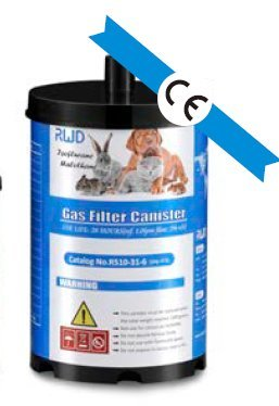 Gas Filter Canister, pkg of 6pcs by RWD