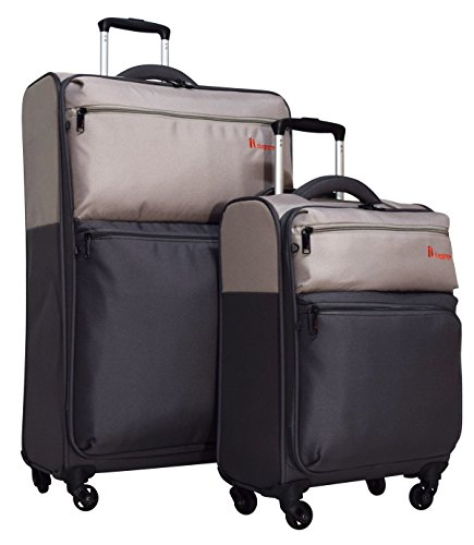 it luggage Duotone 4 Wheel 2 Piece Luggage Spinner Set: 28'' and 18'' (Atmosphere/Dark Gull Gray) by IT Luggage
