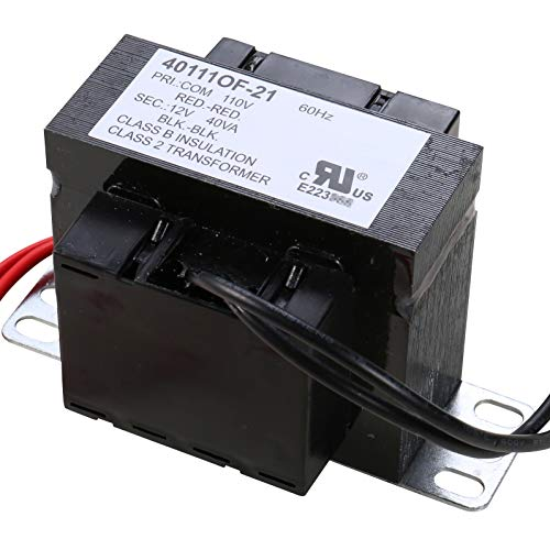(UHPPOTE UL-Recognized Class 2 Transformer Foot Mount 40VA Rating 110VAC Input 12VAC)