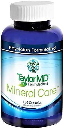 Mineral Care Supplement Anti-inflammatory, Antioxidant, Bone Muscle Supplement, Hormone, Immune Support. Best for Men Women Fitness, Weight Management Minerals with Betaine HCI Protein Digestion – Physician Formulated Clinically Tested – Guaranteed by Taylor MD Formulations.