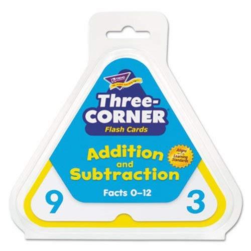 - trend Addition/Subtraction Three-Corner Flash Cards, 6 & Up, 48/Set