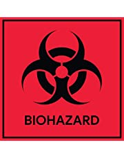 Biohazard Stickers Signs (Pack of 10) | Decals for Labs, Hospitals, and Industrial Use