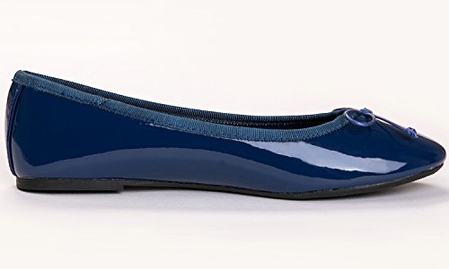 Ballet Flat Patent Memory colorful Feversole Navy Macaroon Women's qwXIYwAxOZ