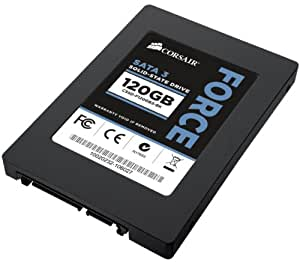 Corsair Force Series 3 120GB  (6Gb/s) SATA 3 SF2200 controller Asynchronous SSD (CSSD-F120GB3A-BK)