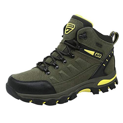 Goddessvan Men's Autumn High Tube Shoes Outdoor Climbing Sneakers Hiking Cotton Shoes Green from Goddessvan