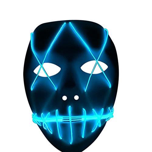Nuoka Costume Halloween Horror Scary Cosplay Light Therap Led Mask -