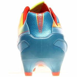 PUMA Men's Evospeed 1.2 L Firm Ground Soccer Shoe,Sharks Blue/Fluorescent Peach/Fluorescent Yellow,10 M US