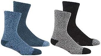 4 Pair Mens Cosy Soft Fleece Non SlipThermall Slipper Lounge Socks Gripper Bed 6-11