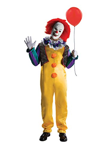 It Stephen King Costume (IT Movie Pennywise Killer Clown Adult Deluxe Costume Kit - X Large)