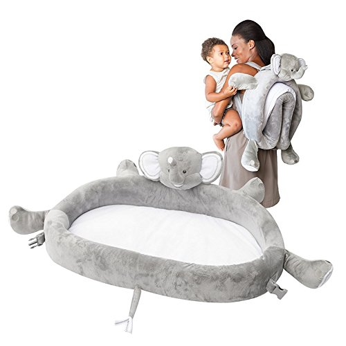 LulyZoo Baby Travel Bed Elephant product image