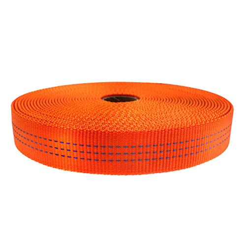 GM CLIMBING Nylon Tubular Webbing Tape 4000lb Heavy Duty for General Outdoor Application 1
