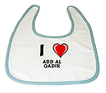 Baby Bib With I Love Abd Al Qadir First Name Surname Nickname
