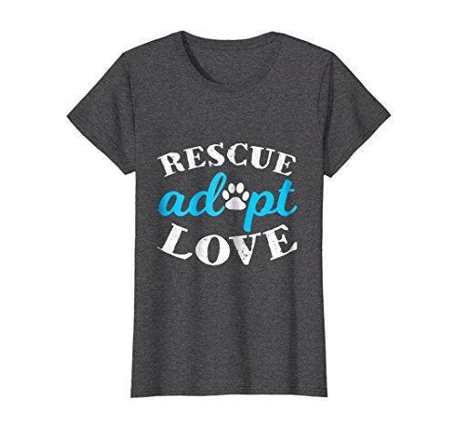 Love Animal Lover Shirt Medium Dark Heather ()