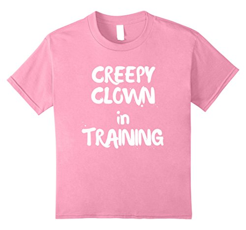 Costumes Funny Friendly Family (Kids Creepy Clown in Training Halloween Tshirt Family Friendly 12)