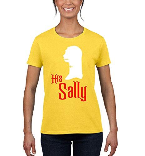Tee-Rex Halloween Her Sally Romantic Womens Fashion T-Shirt (XX-Large, Yellow) ()