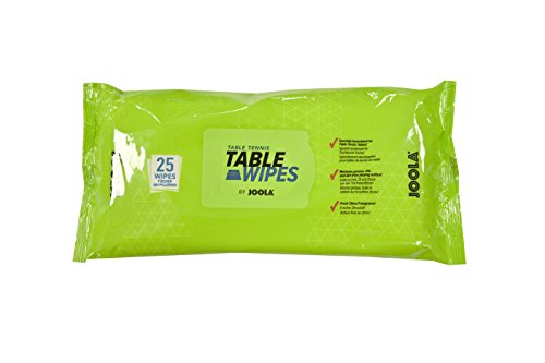 JOOLA Table Tennis Table Surface-Safe Cleaning Wipes (25 Count) - Alcohol & Bleach Free, Citrus Scent by JOOLA
