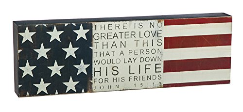 No Greater Love 18x6 Wooden Plock