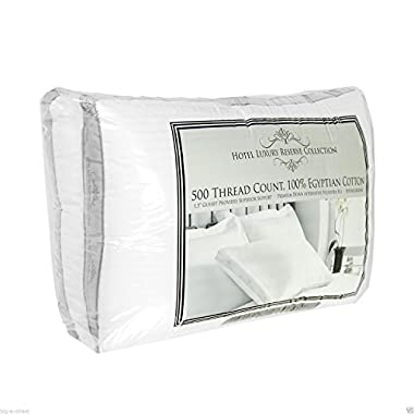 2 pk Hotel Luxury Reserve Collection Cotton Bed Pillows 20  x 28  Standard Queen