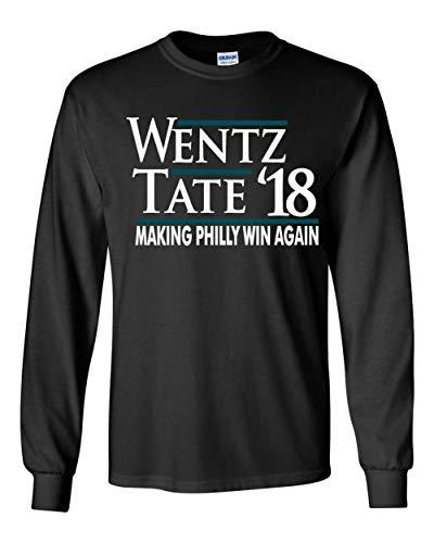 "PROSPECT SHIRTS Long Sleeve Black Philadelphia Wentz Tate 18"" t-Shirt Adult"