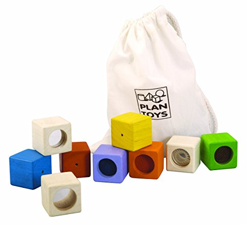 PlanToys Activity Blocks - Baby Animals Block Puzzle