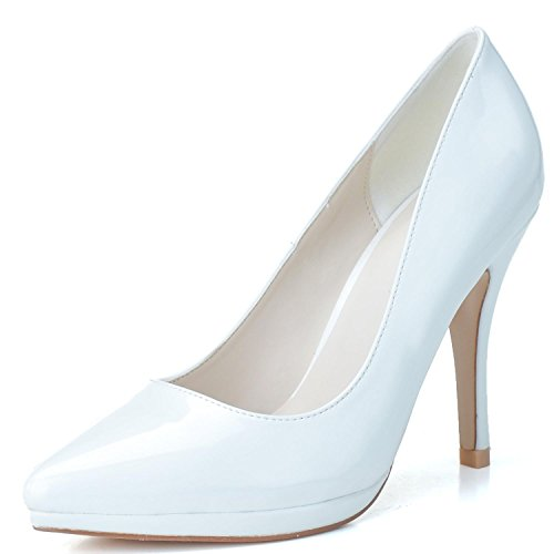 White Moda Pu Hx Plataforma yc 23 Alto Mujer Tacón 0255 L Boda De Zapatos wTg7avx7Oq