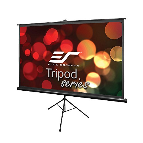 Elite Screens Tripod, 120-inch, Adjustable Multi Aspect Ratio Portable Pull up Projection Projector Screen, -