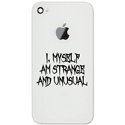 I Myself Am Strange And Unusual Halloween Beetle Juice Inspired Vinyl Cell Phone Decal for the iPhone or Android (BLACK 2